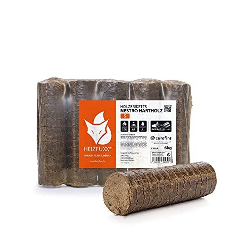 Holzbriketts Hartholz Nestro M - 6kg x 4 Gebinde 24kg