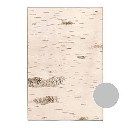 Wald Wanddeko aus Birkenrinde auf Holz Wandverkleidung