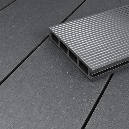 WPC-Terrassendiele Kuba grau I Komplett-Set