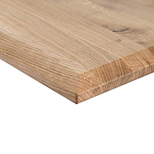 Massivholz, Tischplatte in Eiche Massiv mit durchgehenden Lamellen