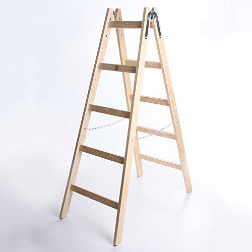 Holzleiter STANDARD 2x5 Stufen Zweiseitige