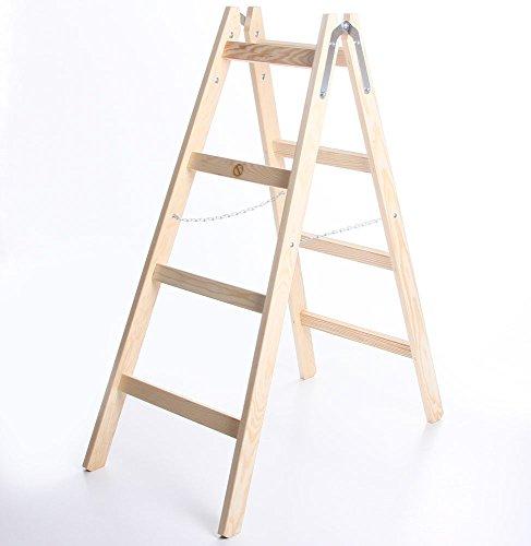 Holzleiter STANDARD 2x4 Stufen Zweiseitige